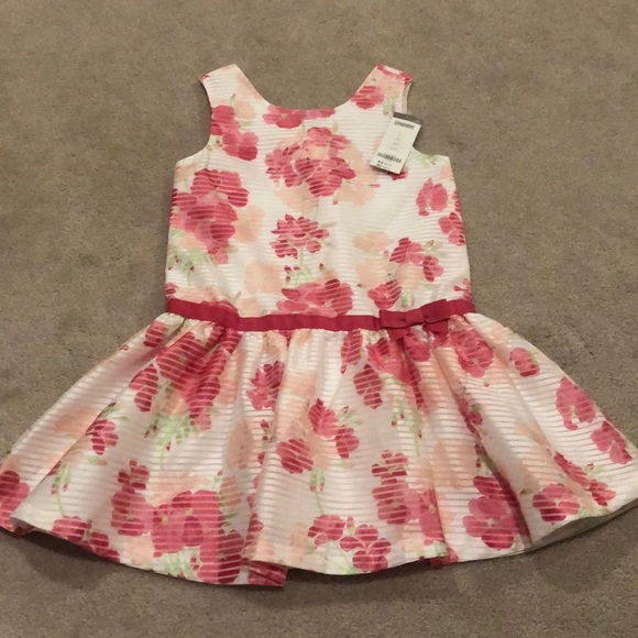 Brand New Gymboree Dress Girls Size 7-8 green white flowers